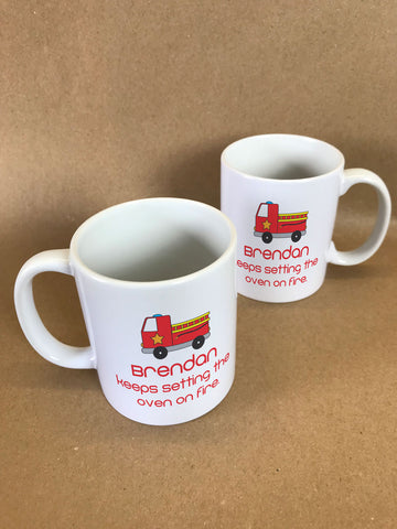CA09 - Fire Engine Mug & White Gift Box