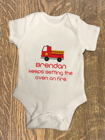 CA09 - Fire Engine Baby Vest