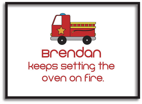 CA09 - Fire Engine Personalised Print