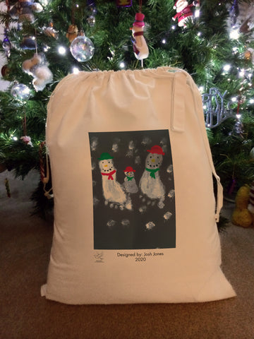 St Austin's R.C. Primary School Personalised Santa Sack with Child's Drawing