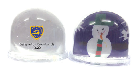 Burtonwood CP School Personalised Snow Globe with Child's Drawing