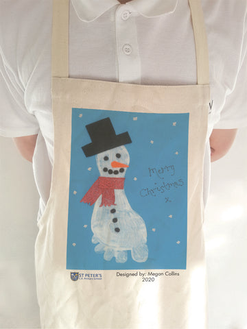 St Peters C of E School Personalised Adult & Child Apron with Child's Drawing