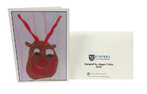 St Peters C of E School Personalised Christmas Cards with Child's Drawing