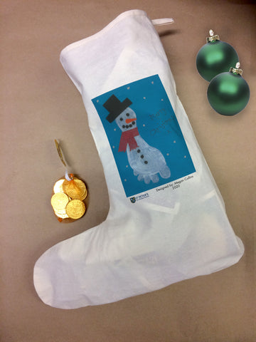St Peters C of E School Personalised Santa Stocking with Child's Drawing