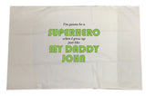 BB20 - Superhero Personalised Pillow Case Cover