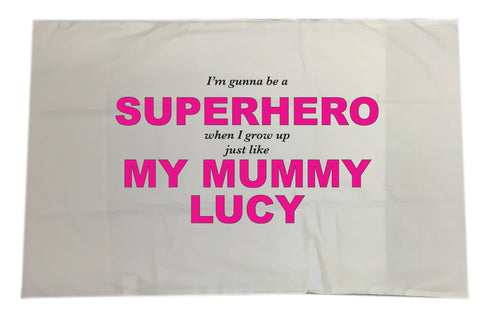 BB24 - Superhero Mum Personalised Pillow Case Cover