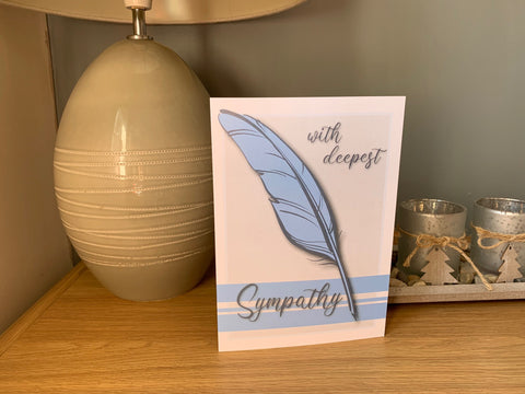 Sympathy Cards for loss of family and friends, with deepest sympathy, love to all