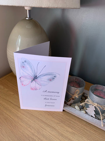 Sympathy Cards for loss of family and friends, memory lives in the heart forever