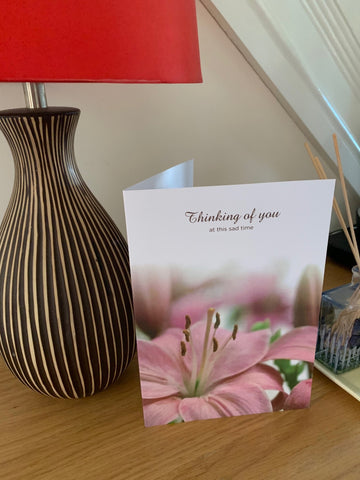 Sympathy Cards for loss of family and friends, thinking of you at this sad time