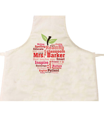 TG03 - Teachers Gifts Apple Word Art Apron