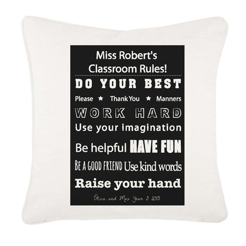 Classroom Rules Cushion Cover