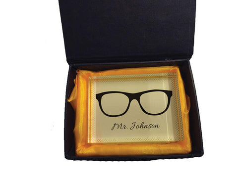 TG05 - Glasses Crystal Block with Presentation Gift Box
