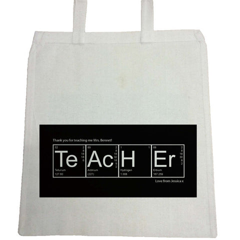TG08 - Periodic Table Canvas Bag for Life