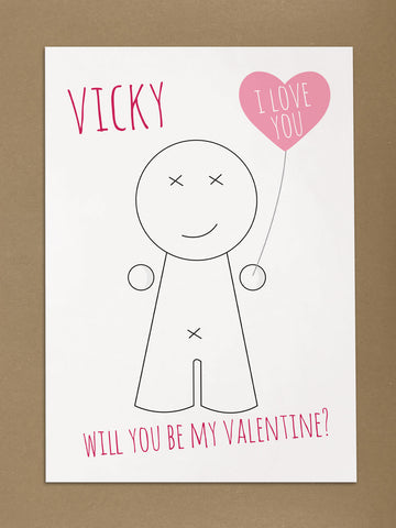 VA01 - Heart Man Valentine's Personalised Print