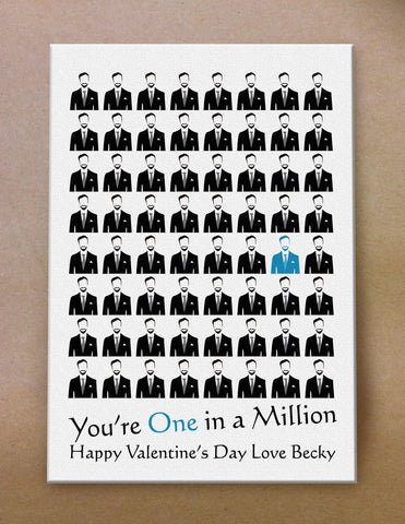 VA02 - You're One in a Million Valentine's Canvas Print Available in Women's and Men's