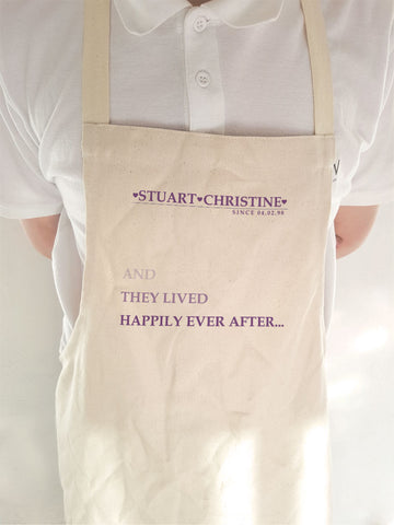VA03 - They Lived Happily Ever After Personalised Cooking Apron