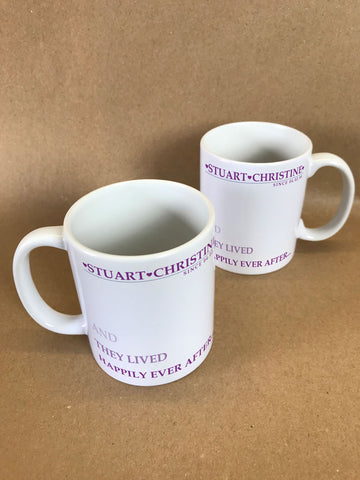 VA03 - They Lived Happily Ever After Personalised Mug & White Gift Box