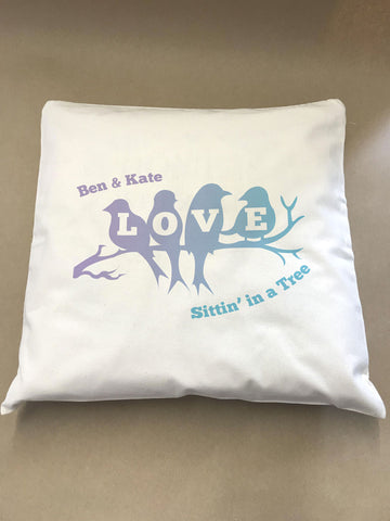 Love Birds Sittin' in a Tree Cushion Cover