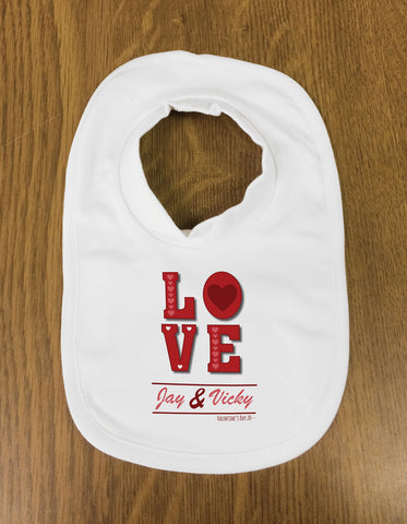 VA05 - Valentine's Love You Personalised Baby Bib