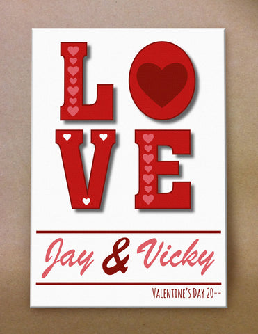 VA05 - Valentine's Love You Personalised Canvas Print