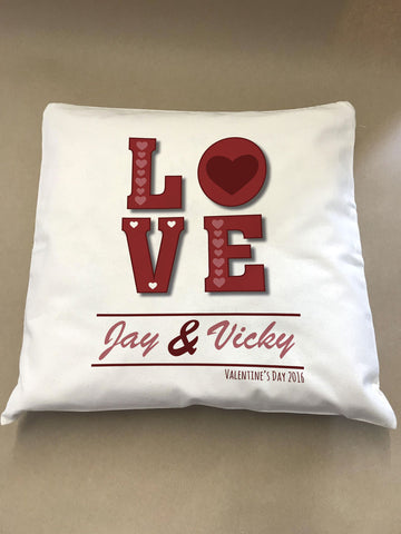 Valentine's Love You Cushion Cover