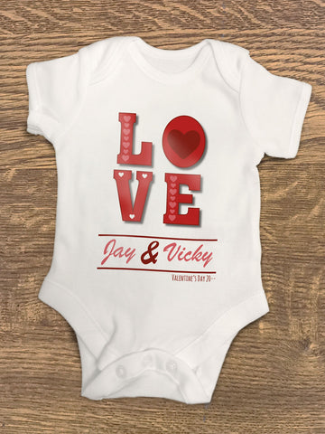 VA05 - Valentine's Love You Personalised Baby Vest