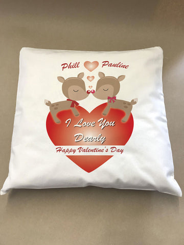 Love You Dearly Valentine's Cushion Cover