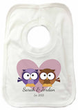VA13 - Loving Owl Hearts Personalised Baby Vest
