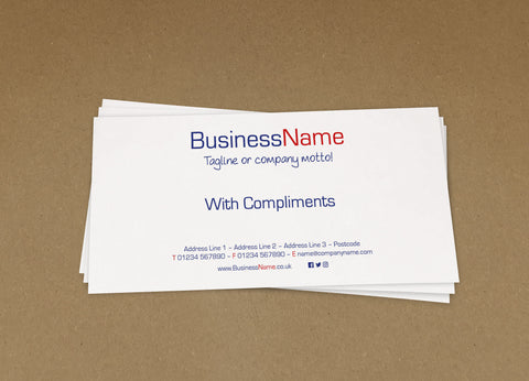 WBP02 - Customised Compliment Slips from £22+VAT