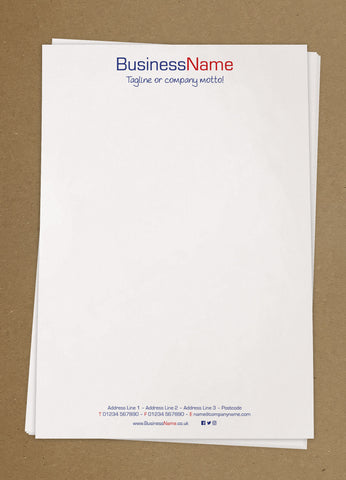 WBP02 - Customised Letterheads from £25+VAT