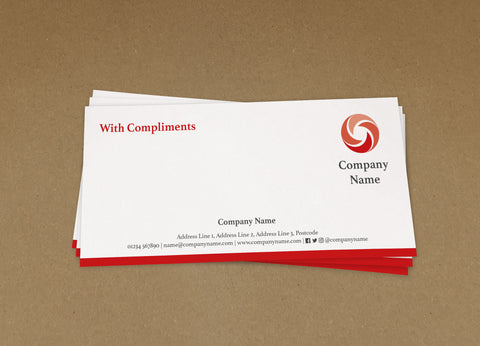 WBP03 - Customised Compliment Slips from £22+VAT