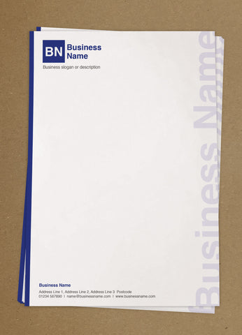 WBP05 - Customised Letterheads from £25+VAT