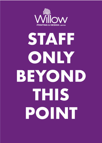 Covid 19 Staff Only Beyond This Point Safety Poster for Businesses
