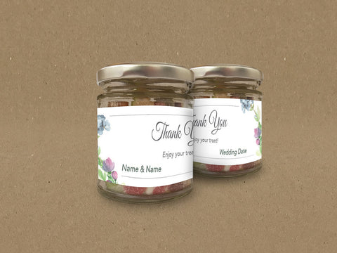 WD06 - Personalised Wedding Floral Themed Sweet Jar