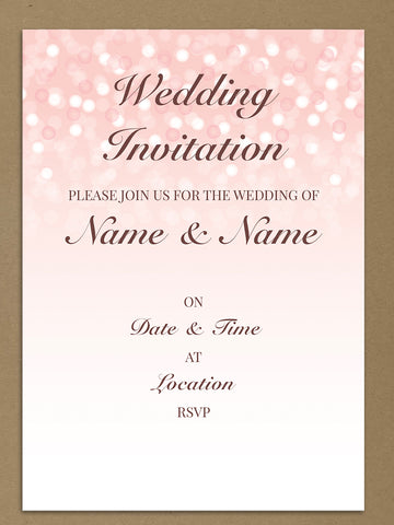 Personalised Wedding Pink Bubbly Themed Invitations From Willow Printing & Design