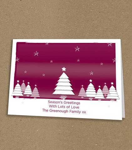 Christmas Cards for Business & Home, Christmas Trees, Stars & Personal Message