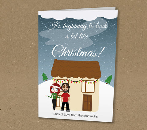WP060 - It's begining to look like Willow Bella's Personalised Christmas Card (Personal)