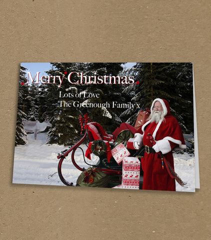 Christmas Cards for Business & Home, Personalised Old Fashioned Father Christmas