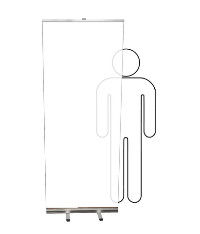 Covid 19 Clear Safety Retractable Banner Screens