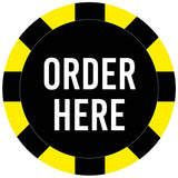 Covid 19 Order Here, Pay Here, Collect Here and Arrow Floor Safety Stickers