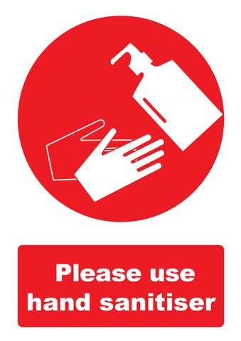 Covid 19 Use Hand Sanitiser Safety Poster for Businesses and Schools
