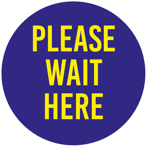 Covid 19 Please Wait Here Floor Safety Stickers