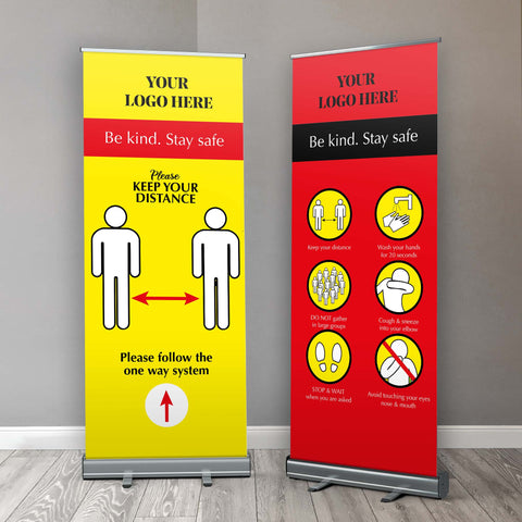 Covid 19 Be Kind, Be Safe Safety Guide Retractable Banner