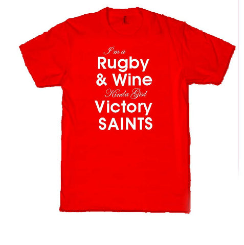 WWS09 - Rugby & Wine Victory T-Shirt, example for St Helens RLFC - COYS