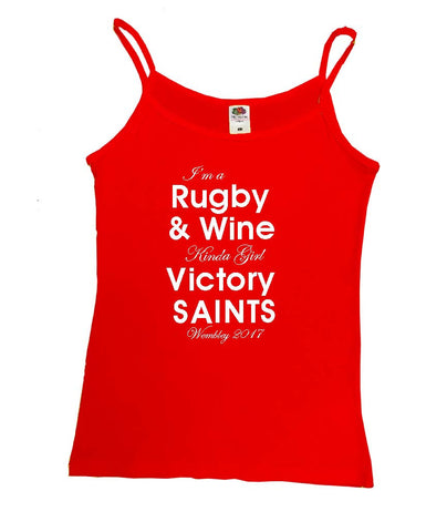 WWS09 - Rugby & Wine Kinda Girl Victory Saints, Yellow Vest, example for St Helens RLFC - COYS