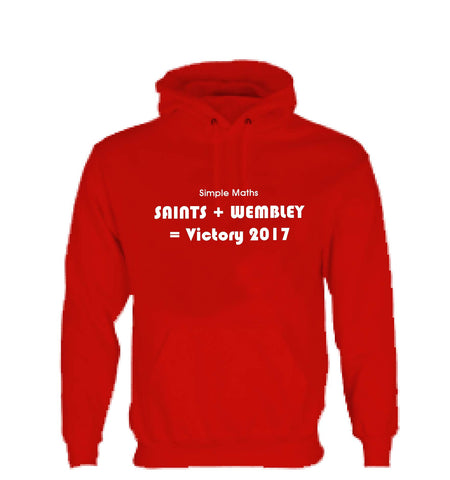 WWS10 - Simple Maths = Saints Hooded Top, example for St Helens RLFC - COYS