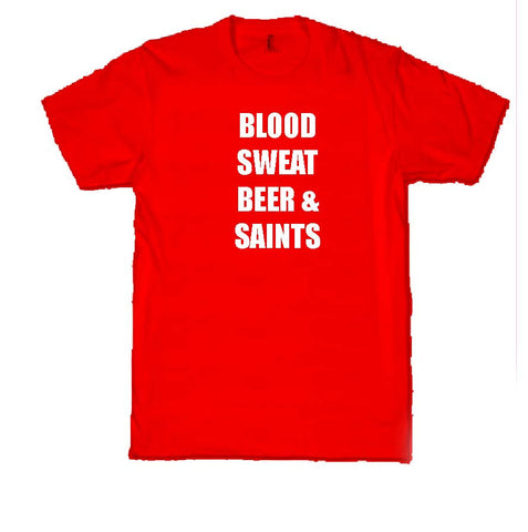 WWS11 - Blood, Sweat, Beer and Team T-Shirt, example St Helens RLFC - COYS