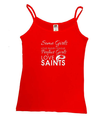 WWS13 - Some Girls Love Rugby League, Smart Girls Love Saints (St Helens RLFC) Vest - COYS