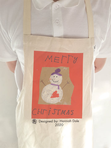 Wargrave C of E Primary School Personalised Adult & Child Apron with Child's Drawing