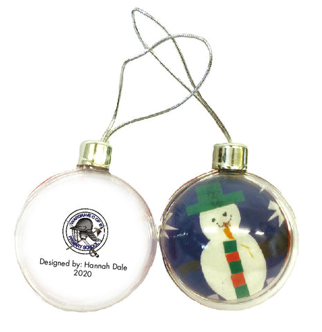 Wargrave C of E Primary School Personalised Bauble with Child's Drawing